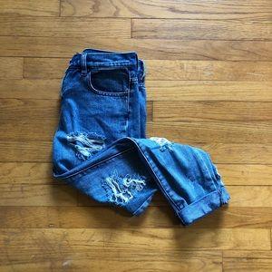 Brandy Melville distressed boyfriend jeans